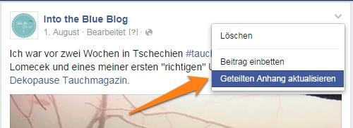 Facebook-Anhang-aktualisieren